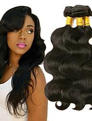 cheap -3 Bundles Brazilian Hair Wavy Human Hair Human Hair Extensions Natural Color Human Hair Weaves Extention Hot Sale Human Hair Extensions / 8A