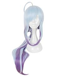 cheap -Cosplay Haku Cosplay Wigs All 38 inch Heat Resistant Fiber Blue Anime