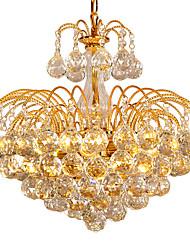 cheap -6-Light 45 cm Crystal / Bulb Included Flush Mount Lights Metal Electroplated Chic & Modern 110-120V / 220-240V