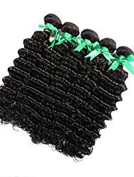 Недорогие -6 Связок Индийские волосы Кудрявый Крупные кудри Не подвергавшиеся окрашиванию 300 g Человека ткет Волосы Уход за волосами Удлинитель Естественный цвет Ткет человеческих волос / 10A
