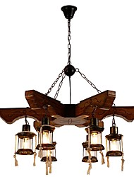 cheap -JLYLITE 6-Light 95 cm Mini Style Chandelier Metal Glass Industrial Painted Finishes Artistic / Retro Vintage 110-120V / 220-240V