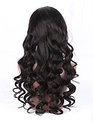 cheap -Unprocessed Human Hair Full Lace Wig With Ponytail style Brazilian Hair Wavy Black Wig 130% Density with Baby Hair Natural Hairline Women's Short Medium Length Long Human Hair Lace Wig Aili Young Hair