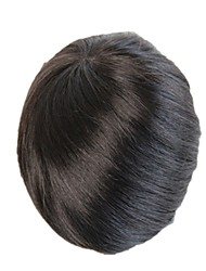cheap -Men's Remy Human Hair Toupees 100% Hand Tied / Full Lace
