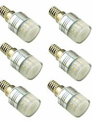 cheap -6pcs 3 W LED Bi-pin Lights 200 lm E14 G9 T 20 LED Beads SMD 3014 Decorative Warm White 220-240 V