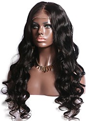 cheap -Human Hair Unprocessed Human Hair Full Lace Wig Middle Part Deep Parting Side Part style Brazilian Hair Wavy Natural Wig 130% Density with Baby Hair Natural Hairline For Black Women 100% Hand Tied