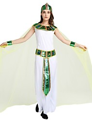 cheap -Egyptian Costume Unisex Halloween Costume For Birthday Polyster Solid Colored Halloween Halloween Carnival Children's Day Dress Shawl Belt / Headwear