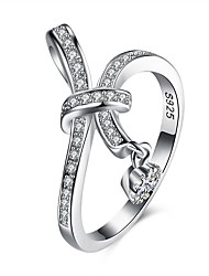 cheap -Women's Band Ring Cubic Zirconia tiny diamond Silver S925 Sterling Silver Geometric Ladies Fashion Party Daily Jewelry