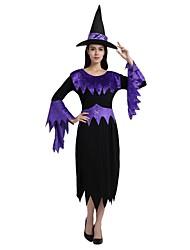 Недорогие -ведьма Костюм Все Универсальные Хэллоуин Хэллоуин Карнавал День детей Фестиваль / праздник Полиэстер Инвентарь Черный Однотонный Halloween