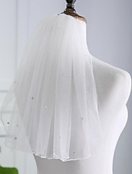 cheap -One-tier Voiles & Sheers / Ordinary Wedding Veil Shoulder Veils with Acrylic Diamond POLY / Classic