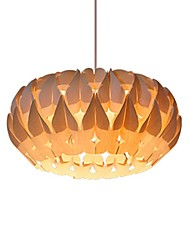 cheap -1-Light 42 cm Pendant Light Metal Wood / Bamboo Novelty Artistic / Vintage 220V