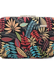 "cheap -11.6"" 13.3"" 14"" 15.6"" Plant Leaf Pattern Laptop Sleeves Canvas for Macbook/Surface/HP/Dell/Samsung/Sony Etc"