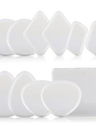 abordables -10 pcs Portable Lavable Pro Rond Carré forme de goutte Le gel de silice Gel de silicone Set de maquillage Houppette Silisponge Beauté Accessoires de Maquillage Produits de Beauté Soins Personnels Pour