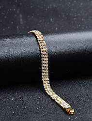 cheap -Women's Cubic Zirconia Chain Bracelet Classic Vintage Elegant Gold Plated Bracelet Jewelry Gold For Wedding Evening Party / Austria Crystal