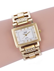 cheap -ASJ Women's Bracelet Watch Gold Watch Square Watch Japanese Quartz White / Gold Casual Watch Analog Ladies Luxury Fashion - Gold Silver Two Years Battery Life / SSUO 377