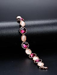 cheap -Women's Crystal Chain Bracelet Flower Classic Vintage Elegant Crystal Bracelet Jewelry Rainbow For Wedding Evening Party / Austria Crystal