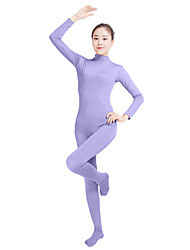 cheap -Zentai Suits Catsuit Skin Suit Adults' Lycra® Cosplay Costumes Fashion Sex Men's Women's Coffee / Dark Purple / Light Purple Solid Colored Fashion Halloween Carnival Masquerade / High Elasticity