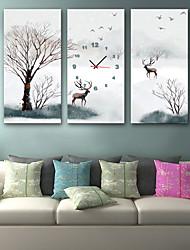 "cheap -Wall Clock,Modern Style Scenery Canvas Cuboid Indoor 12"" x 24""(30cm x 60cm) 16"" x 32"" (40cm x 80cm)"