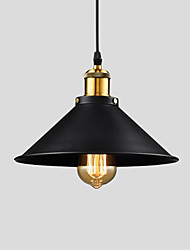 cheap -Vintage Pendant Lights 1-Light Metal Shade Living Room Dining Room Hallway Lighting
