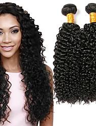 cheap -4 Bundles Malaysian Hair Curly Human Hair Natural Color Hair Weaves / Hair Bulk Human Hair Extensions Natural Color Human Hair Weaves Extention Hot Sale Human Hair Extensions / 8A