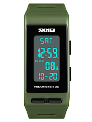 cheap -SKMEI Women's Ladies Sport Watch Japanese Digital 50 m Water Resistant / Water Proof Alarm Chronograph PU Band Digital Casual Fashion Black / Blue / Red - Red Green Blue One Year Battery Life