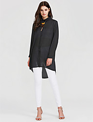 cheap -Women's Going out Blouse - Solid Colored Gray