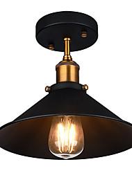 Недорогие -диаметр 26см промышленный потолочный светильник semi flush старинный металлический 1-свет потолочный светильник столовая кухня свет