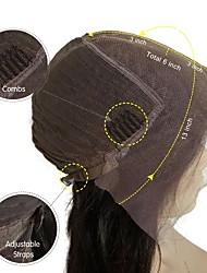 cheap -Human Hair Unprocessed Human Hair Lace Front Wig Bob Short Bob Straight bangs Kardashian style Brazilian Hair Straight Natural Wig 130% Density with Baby Hair Natural Hairline For Black Women 100