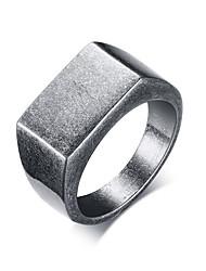 Недорогие -Муж. Кольцо Кольцо с печаткой Серый Нержавеющая сталь Геометрической формы Мода инжиниринг Для улицы Офис Бижутерия геометрический Cool