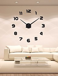 cheap -Modern / Contemporary Acryic / Polyester Stainless steel Round Indoor / Outdoor,AA Batteries Powered AA Wall Clock