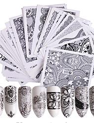 Недорогие -48 pcs Наклейка для ногтей Цветы Передача бумаги