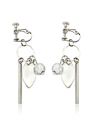 cheap -Women's Drop Earrings Ladies Sweet Fashion Earrings Jewelry Silver For Daily Going out