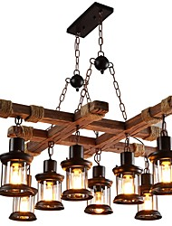 cheap -JLYLITE 8-Light 68 cm Mini Style Chandelier Metal Glass Painted Finishes Rustic / Lodge / Artistic 110-120V / 220-240V