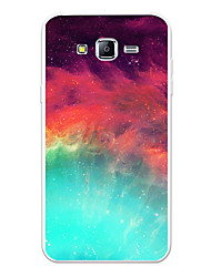 cheap -Case For Samsung Galaxy J7 (2017) / J7 (2016) / J7 Pattern Back Cover Scenery / Cartoon / Color Gradient Soft TPU