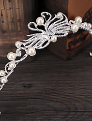 cheap -Other Material Headpiece with Pearl 1pc Wedding / Birthday Headpiece