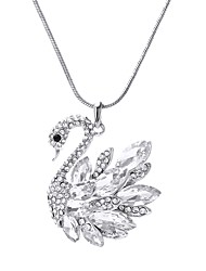 cheap -Crystal Pendant Necklace Swan Sweet Fashion Alloy White Red 80 cm Necklace Jewelry For Daily Evening Party