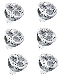 cheap -6pcs 7 W LED Spotlight 600 lm MR16 3 LED Beads High Power LED Decorative Warm White Cold White 12 V