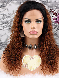 cheap -Remy Human Hair Lace Front Wig Layered Haircut Rihanna style Brazilian Hair Curly Brown Wig 130% Density with Baby Hair Women's Short Medium Length Long Human Hair Lace Wig Luckysnow
