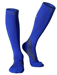 cheap -Compression Socks Long Socks Athletic Sports Socks Cycling Socks Men's Cycling / Bike Bike / Cycling Anatomic Design Breathability Held-In Sensation 1 Pair Letter & Number Polyester Nylon Spandex