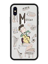 cheap -Case For Apple iPhone X / iPhone 8 Plus / iPhone 8 Pattern Back Cover Cartoon Hard Acrylic