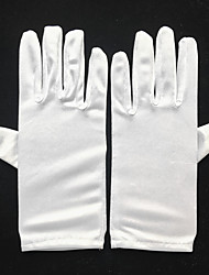 cheap -Spandex Wrist Length Glove Bridal Gloves / Party / Evening Gloves With Faux Pearl