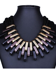 cheap -Women's Collar Necklace Statement Necklace Bib Oversized Resin Alloy Black 50 cm Necklace Jewelry For Party / Evening Club