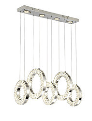 cheap -ZHISHU 9-Light Cluster Chandelier Ambient Light Chrome Metal Crystal, Mini Style, Multi-shade 220-240V Warm White+White LED Light Source Included / LED Integrated