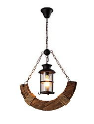 cheap -1-Light JLYLITE 56 cm Mini Style Chandelier Wood / Bamboo Glass Industrial Painted Finishes Rustic / Lodge / Artistic 110-120V / 220-240V
