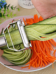 cheap -Kitchen Accessories Cooking Tools Multifunction Stainless Steel Julienne Peeler Vegetable Peeler Double Planing Grater