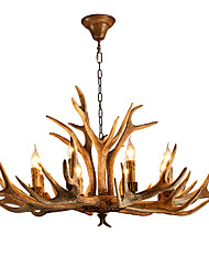 cheap -6-Light 80 cm Mini Style Chandelier Resin Resin Candle-style Painted Finishes Artistic / Retro Vintage 110-120V / 220-240V