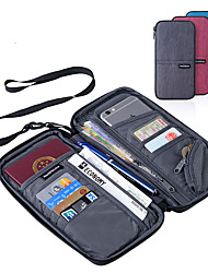cheap -Passport Holder & ID Holder Polyester Portable / Luggage Accessory / Multi-function Solid Colored