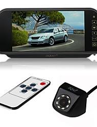 Недорогие -ziqiao 7-дюймовый цветной tft lcd монитор заднего вида с зеркалом заднего вида и 8-вольтовый ccd hd водонепроницаемый автомобиль заднего вида камеры