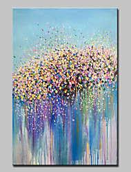 cheap -Mintura® Hand-Painted Modern Abstract Flower Oil Painting On Canvas Wall Art Pictures For Home Decor Ready To Hang