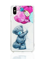 cheap -Case For Apple iPhone X / iPhone 8 Plus / iPhone 8 Shockproof / Pattern Back Cover Animal Soft TPU