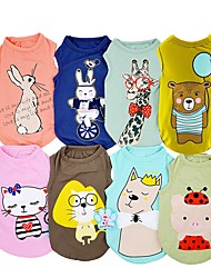cheap -Dogs Cats Pets Vest Princess Dog Clothes Navy Green Jade Costume Dalmatian Japanese Spitz Beagle Cotton / Polyester Cartoon Bear Rabbit / Bunny Fashion XS S M L XL